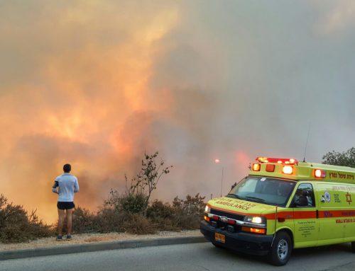 MDA teams on high alert as fires rage throughout Israel